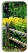 Wild Flowers And Fence IPhone Case