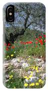 Wild Flowers And Olive Tree IPhone Case