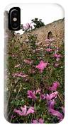 Wild Flowers At The Old Fortress IPhone Case