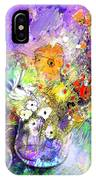 Wild Flowers Bouquet 02 IPhone Case