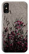 Wild Flowers On The Wall IPhone Case
