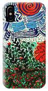 Wild Flowers Under Wild Sky IPhone Case