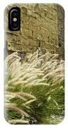 Wild Grass Along An Alley Wall IPhone Case