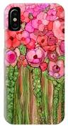 Wild Poppy Garden - Pink IPhone Case