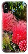 Wild, Red Fluffy Flowers  IPhone Case