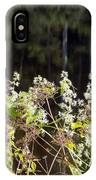 Wild Riverside Weeds And Flowers IPhone Case