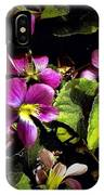 Wild Violets IPhone Case