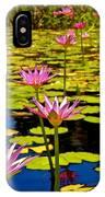 Wild Water Lilies 3 IPhone Case