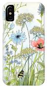 Wildflower And Bees IPhone Case