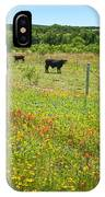 Wildflower Pastures On Willow City Loop IPhone Case