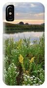 Wildflowers Adorn Nippersink Creek In Glacial Park IPhone Case