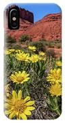 Wildflowers And Butte IPhone Case
