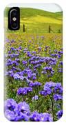 Wildflowers Carrizo Plain IPhone Case