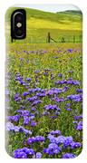 Wildflowers Carrizo Plain National Monument IPhone Case