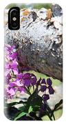Wildflowers On The Fence IPhone Case