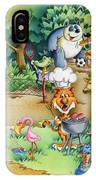 Wildlife Party IPhone Case