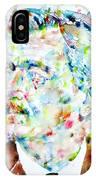 William Faulkner - Watercolor Portrait.4 IPhone Case