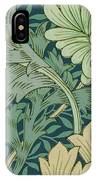 William Morris Wallpaper Sample With Chrysanthemum IPhone Case