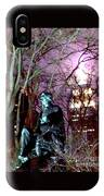 William Seward Statue And Empire State Bldg With Trees IPhone Case