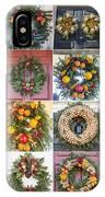 Williamsburg Christmas Collage Squared 3 IPhone Case