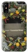 Williamsburg Wreath 18 IPhone Case