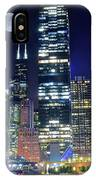 Willis Tower And Moon IPhone Case