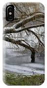 Willow Tree On The Frozen Lake Detail IPhone Case
