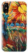 Willows At Sunset - Study Of Vincent Van Gogh IPhone Case