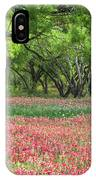 Willows,indian Paintbrush Make For A Colorful Palette. IPhone Case