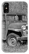 Willys Jeep Pickup Truck Monochrome IPhone Case