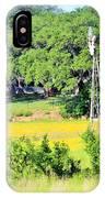 wind mill N weeds IPhone Case