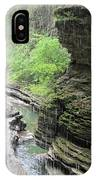Water Falling Throughout The Gorge IPhone Case