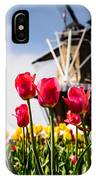 Windmill Island Tulip Gardens IPhone Case