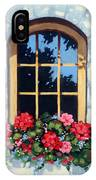 Window With Flower Box IPhone Case