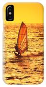 Windsurfer At Sunset IPhone Case