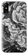 Windy Flowers Black And White IPhone Case