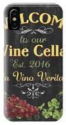 Wine Cellar Sign 1 IPhone X Case