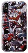 Wine Colored Plants,  IPhone Case