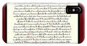 Wine Framed Sunburst Desiderata Poem IPhone Case