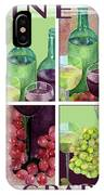 Wine From Grapes Collage IPhone Case