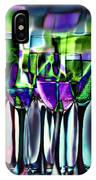Wine Glasses With Colorful Drinks  IPhone Case