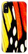 Wings Of A Monarch Butterfly Abstract IPhone Case