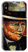 Winston Churchill Portrait IPhone X Case