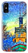 Winter And The Tug Boat 2 IPhone Case