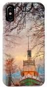 Winter And The Tug Boat IPhone Case
