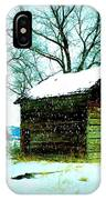Winter Barn And Silo IPhone Case
