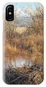 Winter Beaver Dam Charm Co     IPhone Case