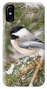 Winter Chickadee IPhone X Case