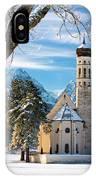 Winter Church In Bavaria IPhone Case