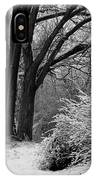 Winter Day - Black And White IPhone Case